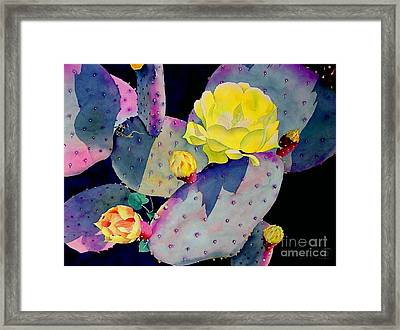 Purple Prickly Pear Framed Print