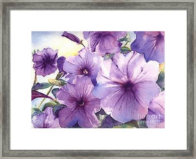 Purple Profusion Framed Print