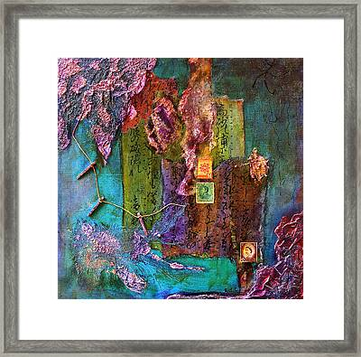 Purple Prose Framed Print by Bellesouth Studio