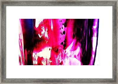 Purple Red Haze Framed Print