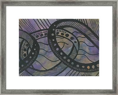Purple Rings Framed Print
