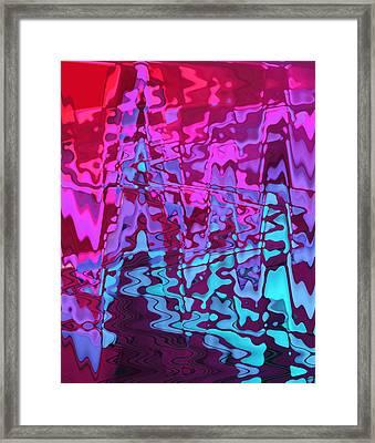 Purple Rivers Framed Print by Steve K