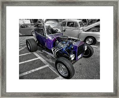 Purple Rod 001 Framed Print by Lance Vaughn
