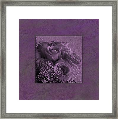 Framed Print featuring the photograph Purple Roses Delight by Sandra Foster