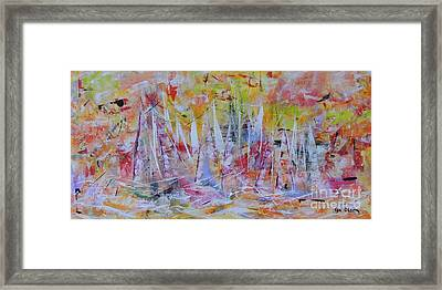 Purple Sailing Framed Print