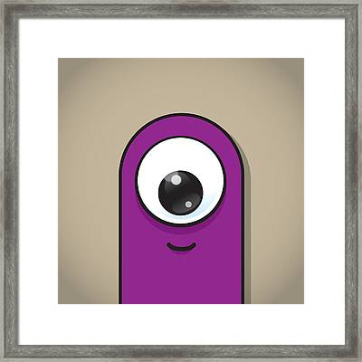 Purple Framed Print by Samuel Whitton