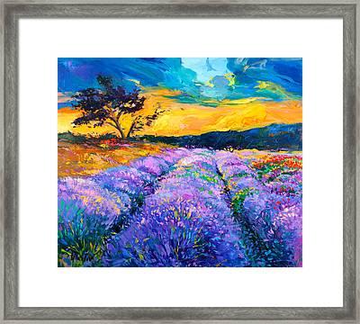 Purple Scene Framed Print by Ivailo Nikolov