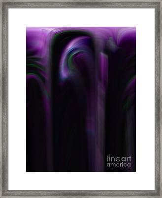 Purple Shadows Framed Print by Patricia Kay