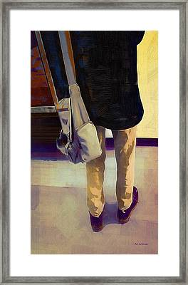 Purple Shoes At The Museum Framed Print by RC deWinter