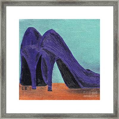 Purple Shoes Framed Print