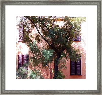 Purple Shutters Framed Print