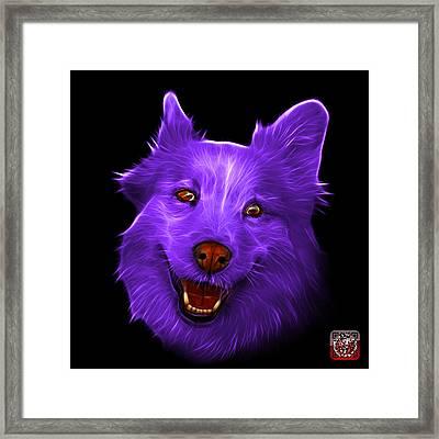 Purple Siberian Husky Mix Dog Pop Art - 5060 Bb Framed Print by James Ahn