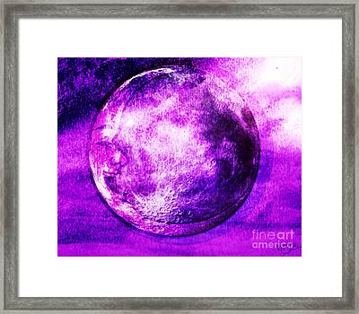 Purple Side Of The Moon Framed Print by Mindy Bench
