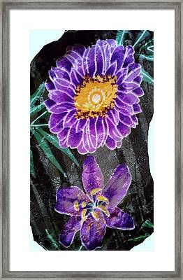 Framed Print featuring the photograph Purple Silk by Fortunate Findings Shirley Dickerson