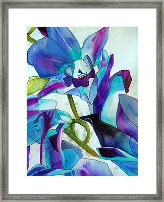 Purple Singapore Orchids Framed Print by Sacha Grossel