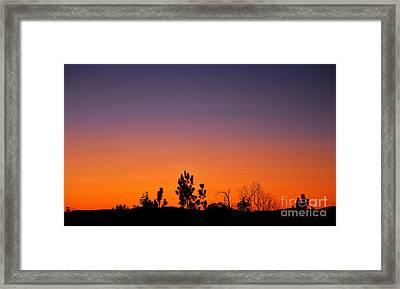 Purple Sky Framed Print by Stuart Mcdaniel