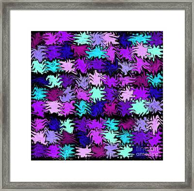 Purple Squiggle Quilt Abstract Framed Print