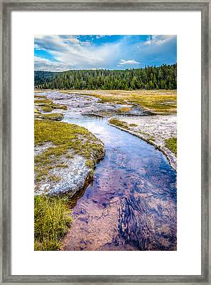 Purple Stream Ynp Framed Print