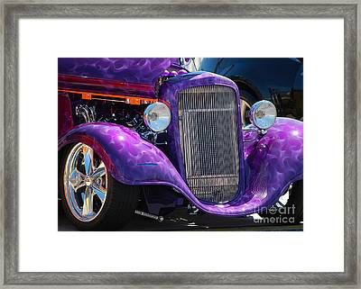 Purple Street Rod Framed Print