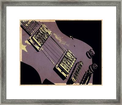 Purple Strings Framed Print