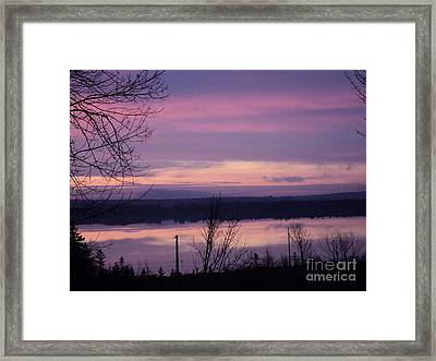 Purple Sunrise Framed Print