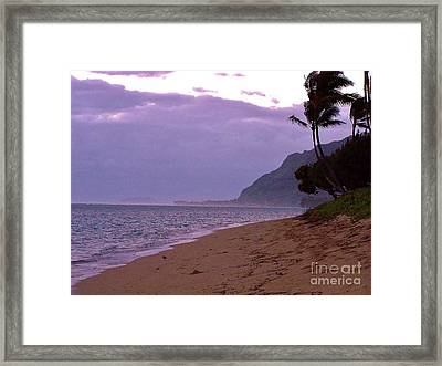 Framed Print featuring the photograph Purple Sunset After The Storm by Brigitte Emme