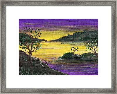 Purple Sunset Framed Print by Anastasiya Malakhova