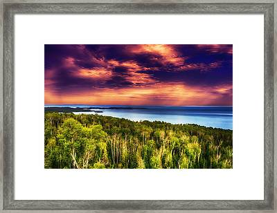 Purple Sunset Approach Framed Print