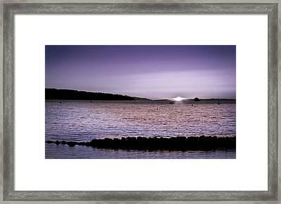 Purple Sunset At English Bay Framed Print