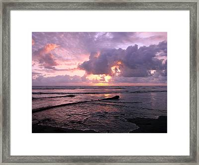 Purple Pink Sunset Framed Print by Athena Mckinzie