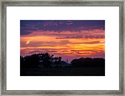 Purple Sunset Framed Print by Dawn Romine