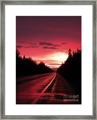 Purple Sunset Framed Print by Jennifer Kimberly