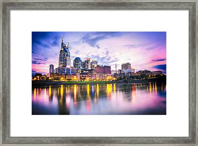 Purple Sunset Framed Print by Lucas Foley