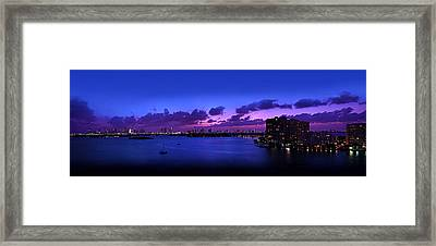 Purple Sunset Framed Print by Michael Guirguis
