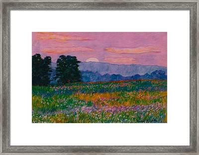 Purple Sunset On The Blue Ridge Framed Print