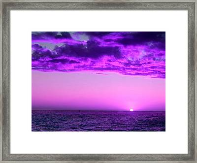 Framed Print featuring the photograph Purple Sunset by Steed Edwards