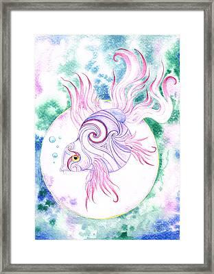 Purple Swirled Fairy Fish Framed Print by Heather Bradley