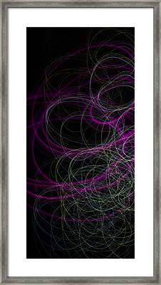Purple Swirls Framed Print