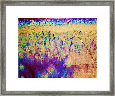 Purple Tan Stone Abstract Framed Print by Eric  Schiabor