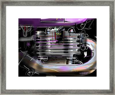 Purple Tank Framed Print by Peter Fogg