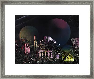 Purple Temple Framed Print by Mike Cicirelli