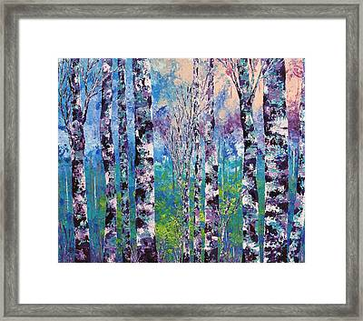 Purple Trees Framed Print by Shilpi Singh