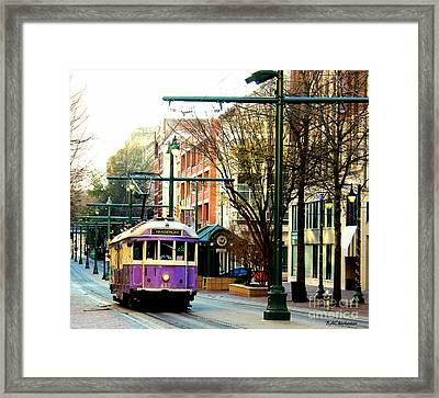 Purple Trolley Framed Print by Barbara Chichester