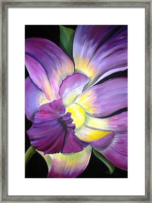 Purple Tropical Framed Print