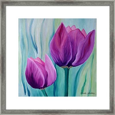 Purple Tulips Framed Print by Carola Ann-Margret Forsberg