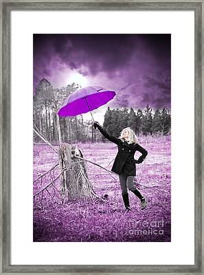 Purple Umbrella Framed Print by Jt PhotoDesign