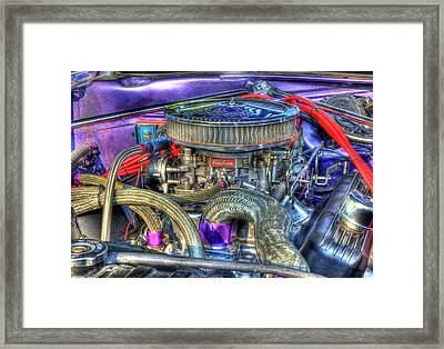 Purple Under The Hood Framed Print by Thomas Young