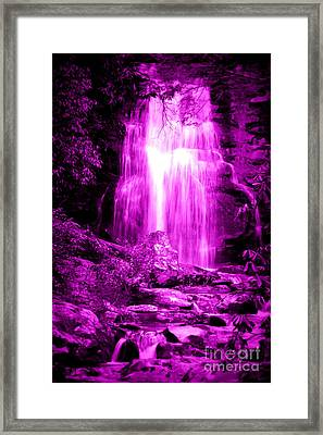 Purple Waterfall Framed Print