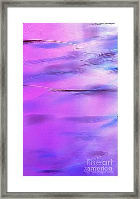 Purple Wave Framed Print by JCYoung MacroXscape