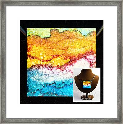 Purple Wave Necklace Framed Print